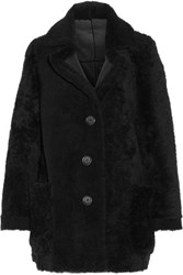 Karl By Karl Donoghue Shearling Coat Black