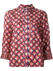 For Restless Sleepers Geometric Pattern Shirt Red