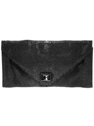 Zagliani 'Easy' Clutch Black