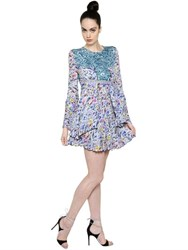 Mary Katrantzou Printed Double Georgette Dress