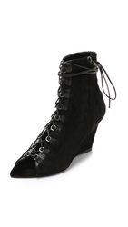 Narciso Rodriguez Deva Suede Wedge Ankle Boots Black