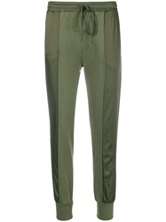Andrea Ya'aqov Drawstring Jogging Pants Green