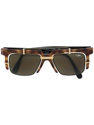 Cazal Double Frame Square Sunglasses Brown