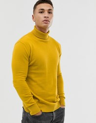 Native Youth Natrive Knitted Roll Neck Yellow