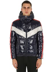 Invicta Hooded Nylon Puffer Jacket Navy