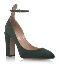 Valentino Tan Go Suede Court Shoes Female Green