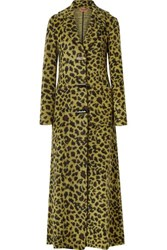 Missoni Leopard Print Knitted Coat Yellow