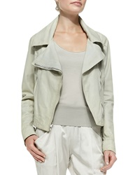 Donna Karan Asymmetric Zip Leather Jacket