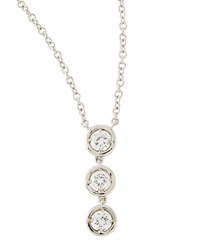 Fantasia Triple Round Cz Drop Pendant Necklace