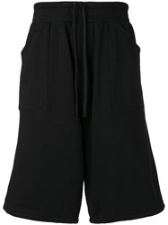 Amen High Waisted Track Shorts Black