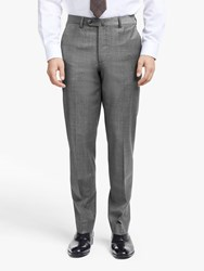 Hackett London Prince Of Wales Check Slim Fit Suit Trousers Grey