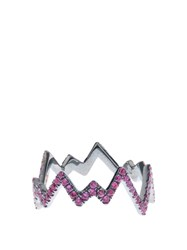 Diane Kordas Pink Sapphire And Black Gold Pop Art Ring