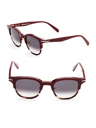 C Line 48Mm Clubmaster Sunglasses Red