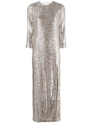 Zadig And Voltaire Fashion Show D Rising Sequin Dress Neutrals