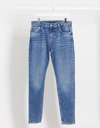 Weekday Cone Jeans In Marfa Blue