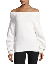 Opening Ceremony Off The Shoulder Wool Blend Sweater White