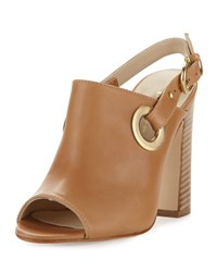 Etienne Aigner Kierra Grommet Leather Sandal Natural