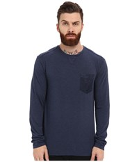 7 Diamonds Cain Long Sleeve Shirt Navy Men's Long Sleeve Pullover