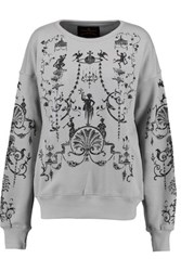 Vivienne Westwood Anglomania Printed Cotton Sweatshirt Gray