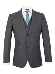 Racing Green Moore Jaspe Check Tailored Jacket Navy