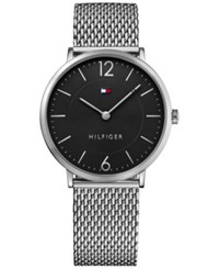Tommy Hilfiger Men's Sophisticated Sport Stainless Steel Mesh Bracelet Watch 40Mm 1710355 Silver