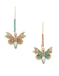 Betsey Johnson Buzz Off Pave Butterfly Mismatch Earrings No Color