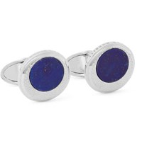 Dunhill Sterling Silver Lapis Cufflinks Silver