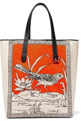 J.W.Anderson Jw Anderson Leather Trimmed Printed Canvas Tote Orange