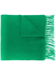 N.Peal Woven Cashmere Scarf Green