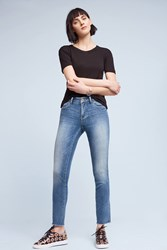 Anthropologie Pilcro Stet Mid Rise Skinny Jeans Denim Medium Blue