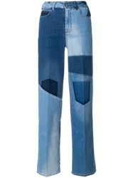 Notify Jeans Wide Patchwork Blue