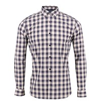 Lords Of Harlech Morris Shirt In Black And Cream White Black Neutrals