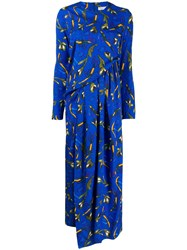 Christian Wijnants Printed Maxi Dress Blue