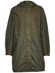 French Connection Mili Canvas Summer Parka Dark Olive Night Olive Night