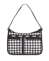 Le Sport Sac Lesportsac Deluxe Houndstooth Print Everyday Bag Chic Noir