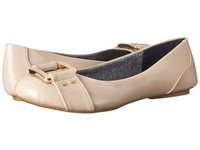 Dr. Scholl's Frankie Taupe Patent Women's Flat Shoes