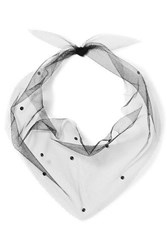 Pan And The Dream Swarovski Crystal Embellished Tulle Scarf Black
