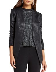 Bcbgeneration Long Sleeve Open Front Blazer Black Silver