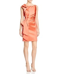Karen Millen Atelier Satin Pencil Dress Coral