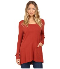 Culture Phit Cheyenne One Pocket Sweater Brick Women's Sweater Red