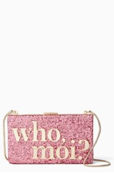 Kate Spade New York Who Moi Glitter Clutch