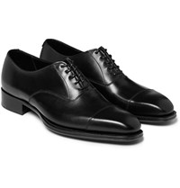 Kingsman George Cleverley Leather Oxford Shoes Black