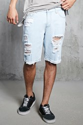 Forever 21 Destroyed Cuffed Denim Shorts
