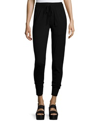 Donna Karan Cashmere Blend Stretch Sweatpants Black