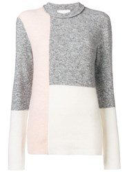 3.1 Phillip Lim Colour Block Fitted Sweater White