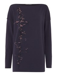 Sarah Pacini Long Sweater Purple