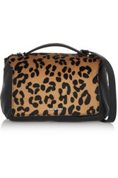 Mcq By Alexander Mcqueen Riot Mini Leopard Print Calf Hair And Leather Shoulder Bag Leopard Print