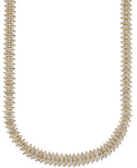 Victoria Townsend Rose Cut Diamond Collar Necklace 1 Ct. T.W. 18K Gold Over Silver Plated Brass