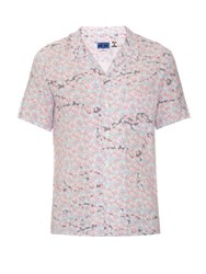 Blue Blue Japan Cherry Blossom Print Short Sleeved Shirt Pink Multi