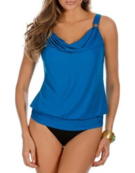 Miraclesuit Solid Luxe Tankini Top Blue